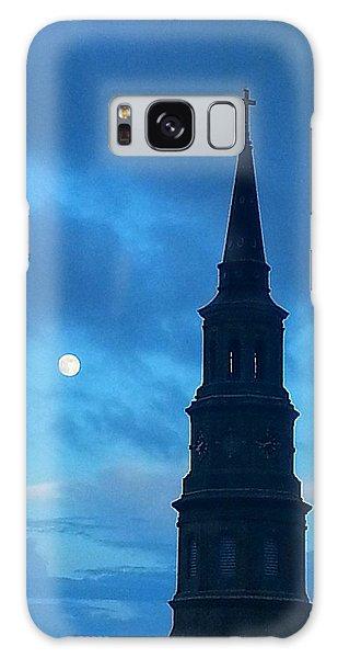 Full Moon In The Holy City Galaxy Case by Joetta Beauford