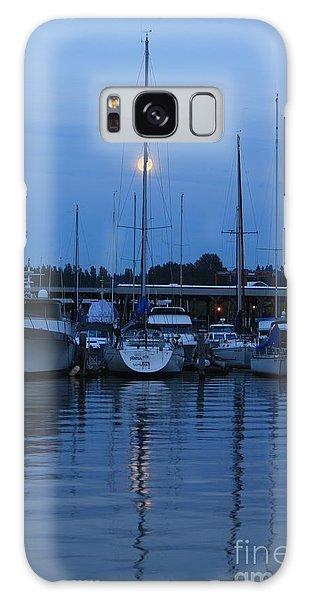 Full Moon Marina - Lake Washington Galaxy Case by Amanda Holmes Tzafrir