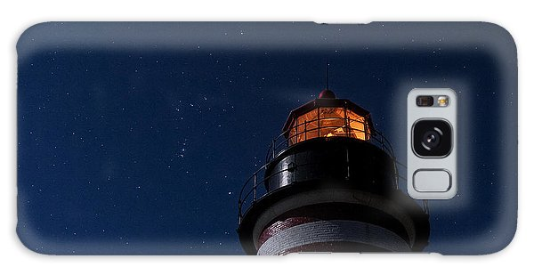 Full Moon On Quoddy Galaxy Case by Marty Saccone