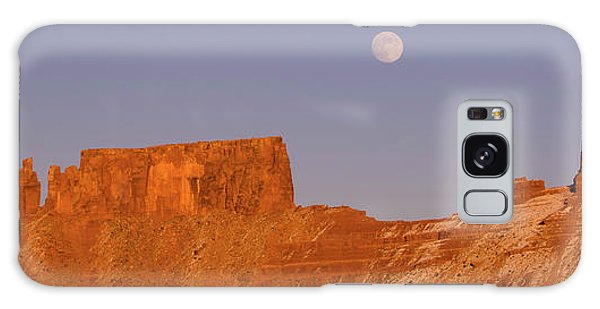 Desert View Tower Galaxy Case - Full Moon Over Castleton Tower, Castle by Panoramic Images