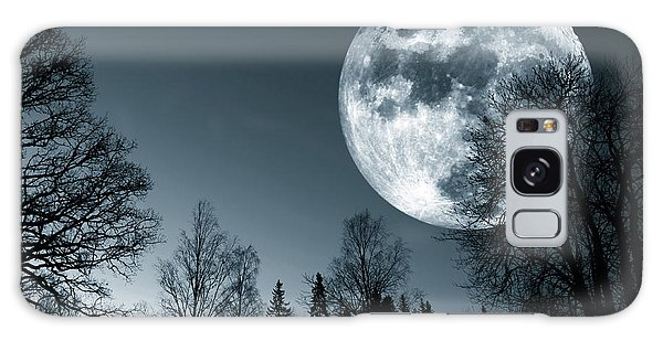 Full Moon Over Dark Forest Galaxy Case by Christian Lagereek