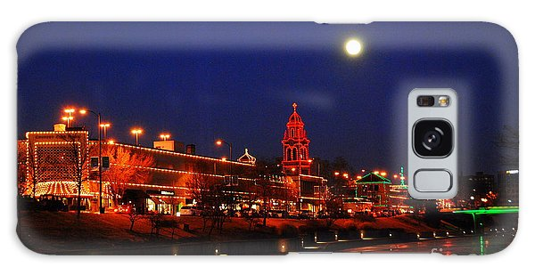 Full Moon Over Plaza Lights In Kansas City Galaxy Case