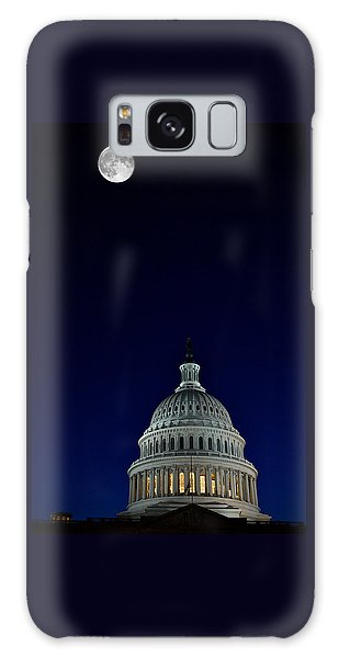 Full Moon Over Us Capitol Galaxy Case
