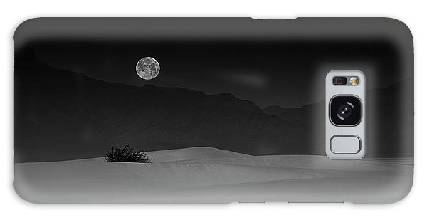 Layers Galaxy Case - Full Moon Over White Sands by Lydia Jacobs