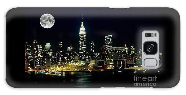 Full Moon Rising - New York City Galaxy S8 Case