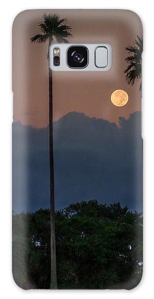 Full Moon Setting Galaxy Case