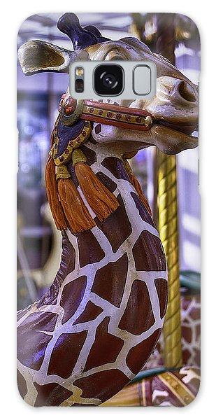 County Fair Galaxy Case - Fun Giraffe Carousel Ride by Garry Gay