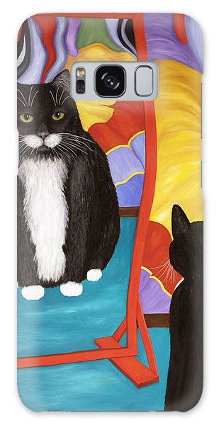 Fun House Fat Cat Galaxy Case