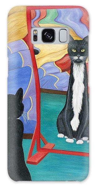 Fun House Skinny Cat Galaxy Case