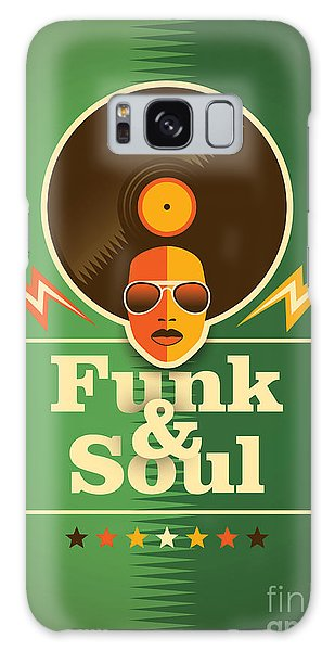 Record Galaxy Case - Funk And Soul Poster. Vector by Radoman Durkovic