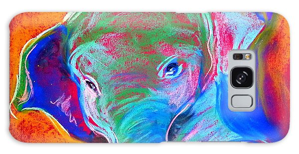 Funky Baby Elephant Blue Galaxy Case