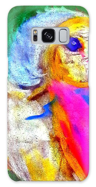 Funky Barn Owl Art Print Galaxy Case