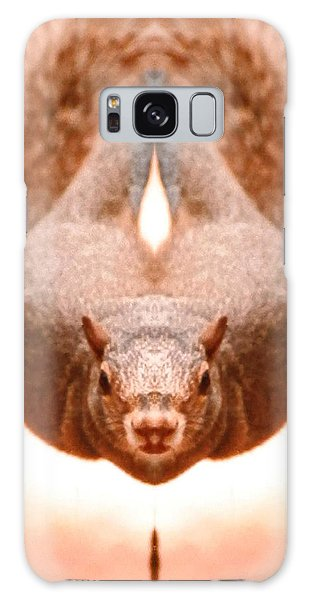 Flying Funky Brown Squirrel Galaxy Case by Belinda Lee