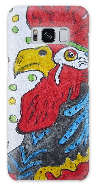 Funky Cartoon Rooster Galaxy Case