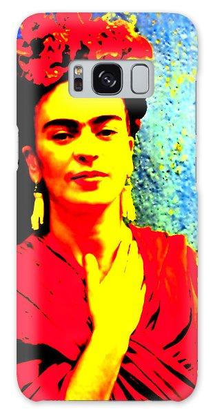 Galaxy Case featuring the mixed media Funky Frida IIi by Michelle Dallocchio