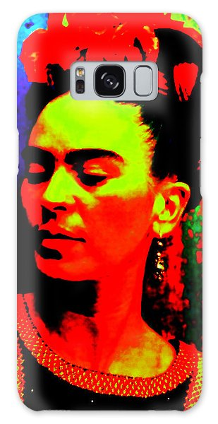 Galaxy Case featuring the mixed media Funky Frida by Michelle Dallocchio