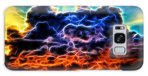 Funky Glowing Electrified Rainbow Clouds Abstract Galaxy Case