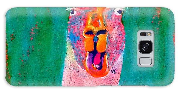Funky Llama Art Print Galaxy Case