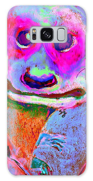 Funky Meerkat Tunnel Art Print Galaxy Case