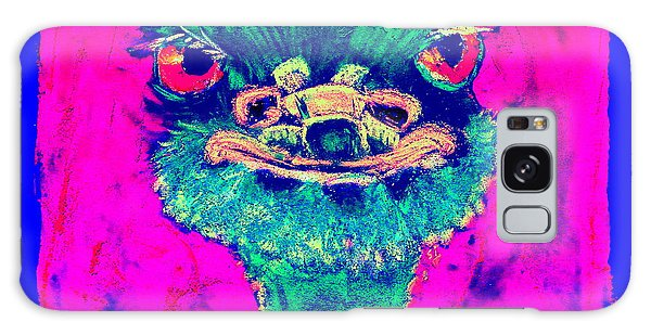 Funky Ostrich Cool Dude Art Prints Galaxy Case
