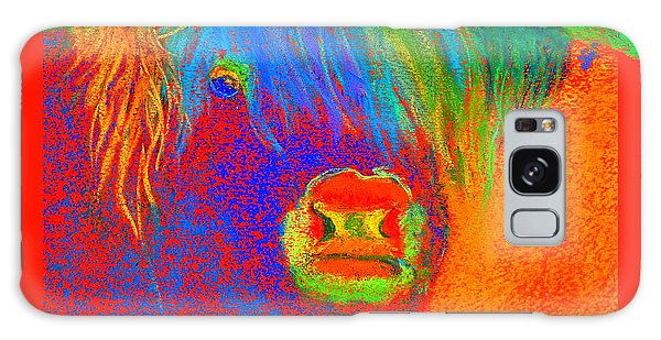 Funky Scottish Highland Cow Wildlife Art Prints Galaxy Case
