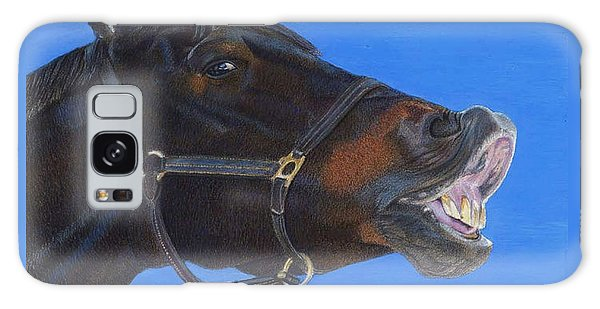 Funny Face - Horse And Child Galaxy Case by Patricia Barmatz