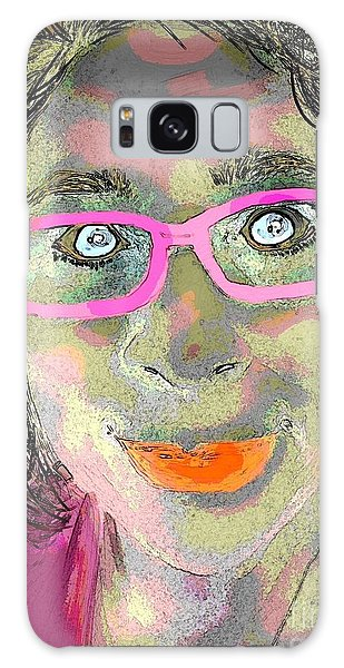 Funny Face Galaxy Case by Susan Townsend
