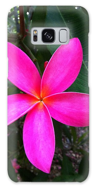 Fuschia Plumeria Bloom Galaxy Case