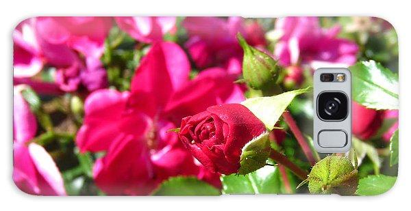 Fuschia Roses Galaxy Case