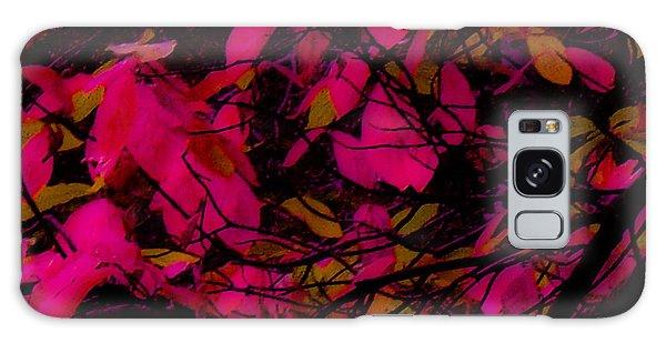 Fuscia Leaves Galaxy Case by Kristen R Kennedy