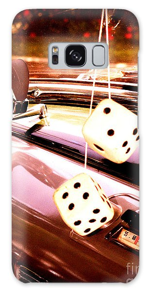 Fuzzy Dice Galaxy Case by Valerie Reeves
