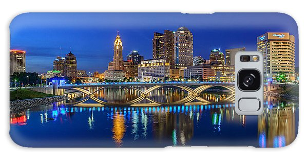 Fx2l530 Columbus Ohio Night Skyline Photo Galaxy Case