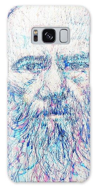 Fyodor Dostoyevsky / Colored Pens Portrait Galaxy Case by Fabrizio Cassetta