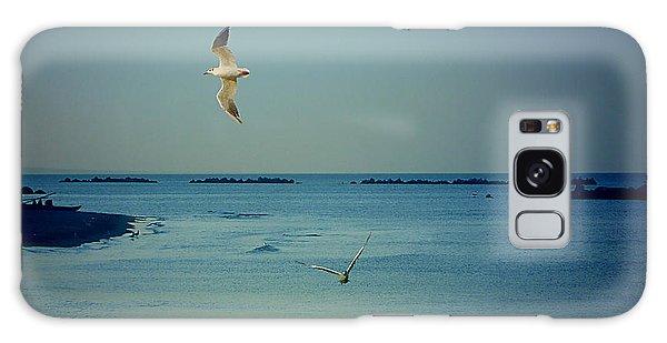 Gabbiani - Seagulls Galaxy Case