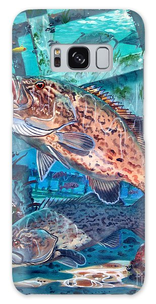 Mangrove Snapper Galaxy Case - Gag Grouper In0030 by Carey Chen
