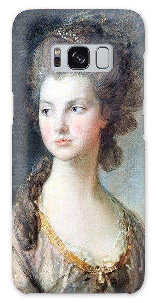 Gainsborough's The Hon. Mrs. Thomas Graham Up Close Galaxy Case by Cora Wandel