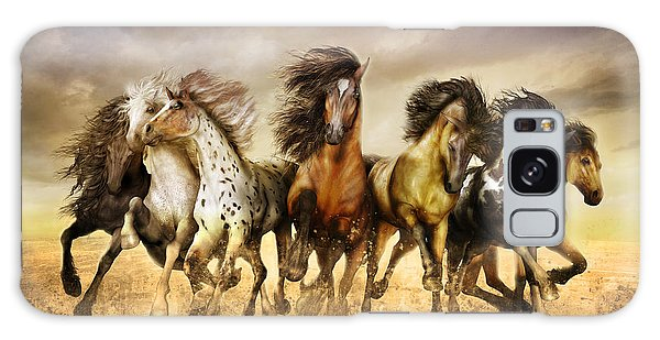 Galloping Horses Full Color Galaxy Case