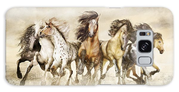 Galloping Horses Magnificent Seven Galaxy Case