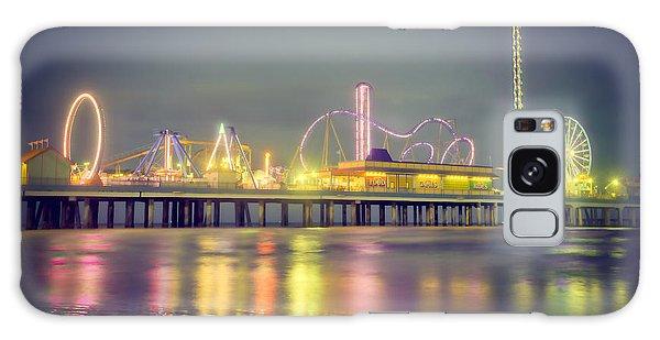 Galveston Pier Colors Galaxy Case by Ray Devlin