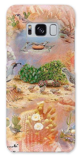 Gambel Quail Collage-southwest Art Galaxy Case by Judy Filarecki