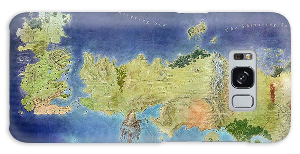 Game Of Thrones World Map Galaxy Case by Gianfranco Weiss