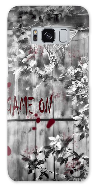 Game On Basketball Black And White Galaxy Case
