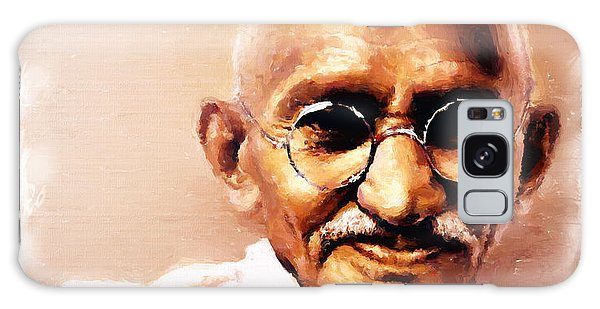 Gandhi In Color Galaxy Case by Wayne Pascall