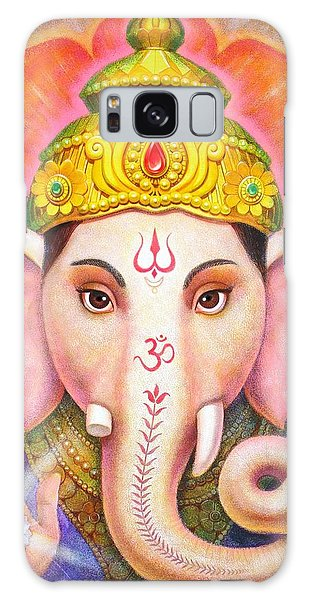 Ganesha's Blessing Galaxy Case by Sue Halstenberg