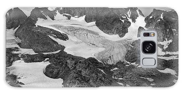509427-bw-gannett Peak And Gooseneck Glacier, Wind Rivers Galaxy Case