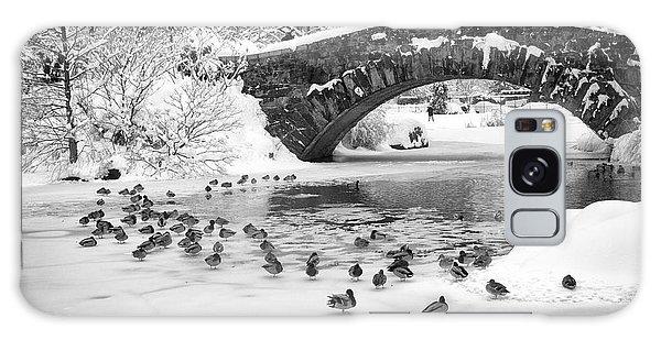 Gapstow Bridge In Snow Galaxy Case by Dave Beckerman