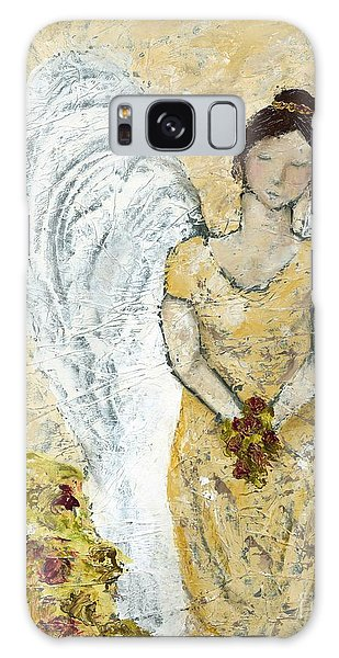 Garden Angel Galaxy Case by Kirsten Reed