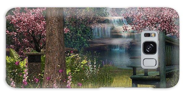 Garden Background Galaxy Case