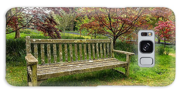 Bluebell Galaxy Case - Garden Bench by Adrian Evans
