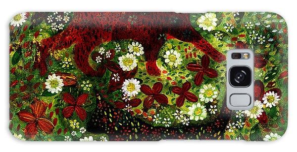 Garden Cats Galaxy Case by Barbara Moignard